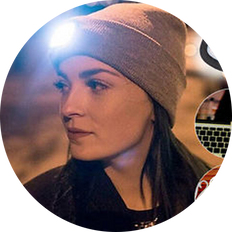 LED Beanie With Rechargable Headlight