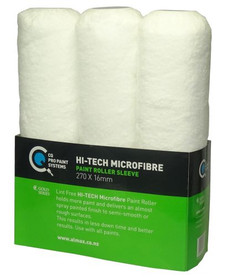 3 Pack 270mm x 16mm Hi Tech Microfibre Roller Sleeves