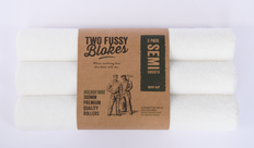 Two Fussy Blokes 360mm Semi Smooth Microfibre Roller Sleeve, 10mm Nap - Contractor 3 Pack