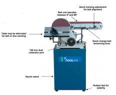 Tooline 150mm x 1220mm Belt and 230mm Disc Sander