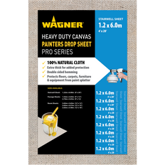 Wagner Heavy Duty Canvas Painters Drop Cloths - 4' x 20' (1.2m x 6m)