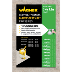 Wagner Heavy Duty Canvas Painters Drop Sheets - 12' x 12' (3.6m x 3.6m)