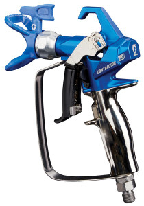 Graco Contractor PC Spray Gun, the lightest, most comfortable gun ever built.