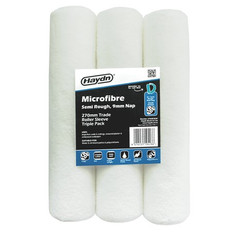 Contractors 3 Pack Haydn 270mm Trade Microfibre General Purpose 9mm Nap Sleeve