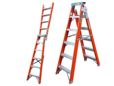 King Fiberglass Step And Extension Ladders - Non Conductive And Versatile