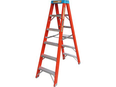 King Fiberglass 1.8 (6FT) Double Sided Step Ladder (160kg) Industrial Load Rating )