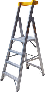 King Aluminium 1.2M (4ft) Platform Ladder 160kg Load Rating