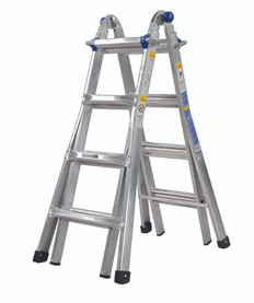 KING ALUMINIUM 0.9M-3.3M (3FT - 10FT) MULTI PURPOSE LADDER
