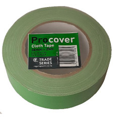 Pro Cover Green Cloth Masking Tape 36mm x 25 metres