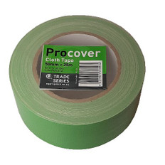 Pro Cover Green Cloth Masking Tape 50mm x 25 metres