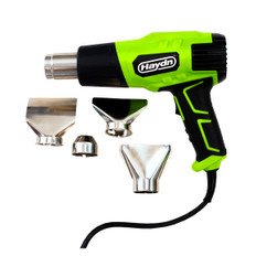 Haydn Heat Gun comes with a range of Nozzle Accessories