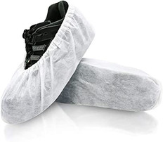 White Disposable Shoe Covers - 20 Pairs