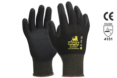 Black Bull Nitrile Foam Gloves - keep yours hands warm on cold days while still having excellent dexterity.