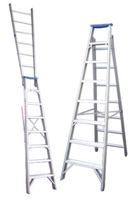 Pro-Series Dual Purpose Aluminium Step Ladders - 150kg Rated