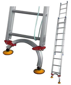 Pro-Series Extension Aluminium Ladders with Level Arc Fitted - Industrial Rated