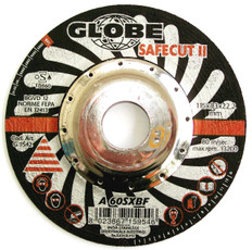 Globe Safecut Depressed Centre Thin Inox Cutting Wheels 115 x 1.3 x 22