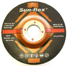 Sun-Flex Reinforced Depressed Centre INOX Grinding Wheels