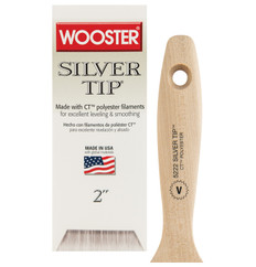 Wooster Silver Tip V Paint Brush  (short handle)