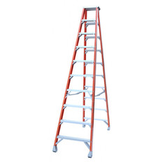 Pro Series Industrial Fibreglass Double Sided Step Ladder