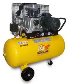 Air Command 3HP Belt Drive Compressor 100L Tank, AC1600/3