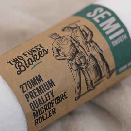 Two Fussy Blokes 270mm Semi Smooth Microfibre Roller Sleeve, 10mm Nap