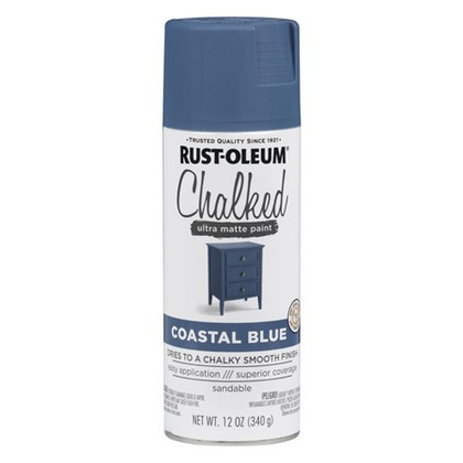 Rust-Oleum Chalked Spray Paint, 340g - Coastal Blue