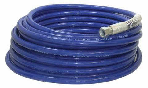 Blue textile braided airless spray gun hose.