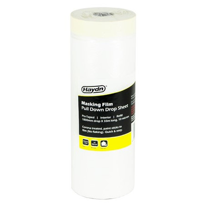 1800mm x 33m Haydn Pre-taped Interior Masking Film