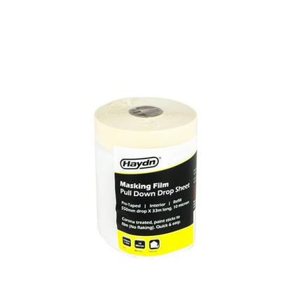 550mm x 33m Haydn Pre-taped Interior Masking Film