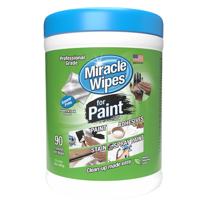 Miracle Wipes 90 Pack for Cleaning Up Paint