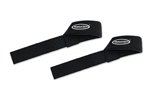 MuscleTech Cotton Lifting Straps (Black)
