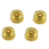 ObsidianWire 24 Spline Speed Knobs for LP® & SG® (4 Pack Gold) SpeedKnobs Gold Solder-less Guitar Wiring