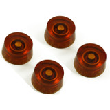 24 Spline Speed Knobs for LP® & SG® (4 Pack Amber)