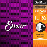Elixir 11-52 Acoustic Guitar Strings at Tone Lounge