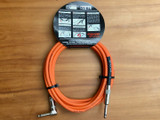 Divine Noise instrument cable 15ft (4.5m) Orange - Straight/Right Angle plugs