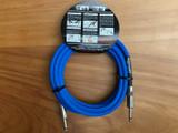Divine Noise instrument cable 15ft (4.5m) Tech Flex Neon Blue - Straight plugs