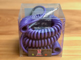 Divine Noise instrument cable - Curly Cable Purple - Straight/Right Angle plugs