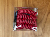 Divine Noise instrument cable - Curly Cable Red - Straight/Right Angle plugs