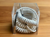 Divine Noise instrument cable - Curly Cable White - Straight/Right Angle plugs