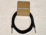 Rattlesnake instrument cable 10ft straight plugs - Black