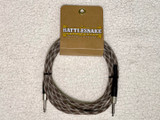Rattlesnake instrument cable 10ft straight plugs - Snake Weave
