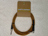 Rattlesnake instrument cable 10ft straight/right angle plugs - Copper