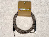 Rattlesnake instrument cable 10ft straight/right angle plugs - Snake Weave