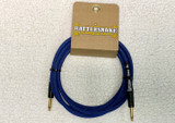 Rattlesnake instrument cable 10ft straight GOLD plugs - Blue