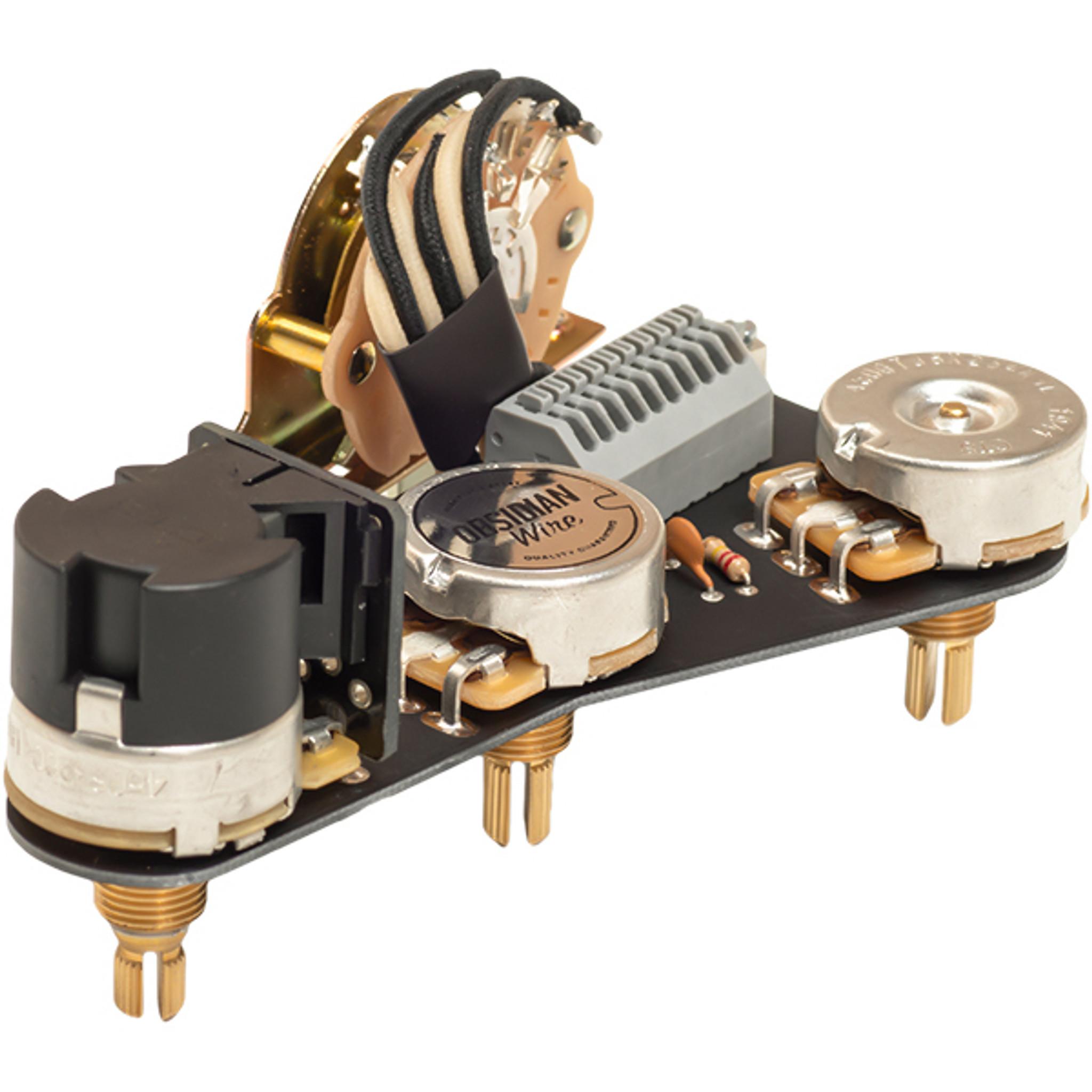 ObsidianWire Solder-less Wiring Upgrade~Custom Blender for Strat® 500k~Brand New