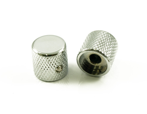 Solid Brass Barrel Knobs Tele® / P Bass Chrome