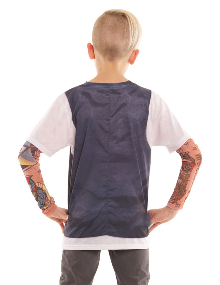 Youth Hipster Vest Tattoo Tee W/ Mesh Sleeves
