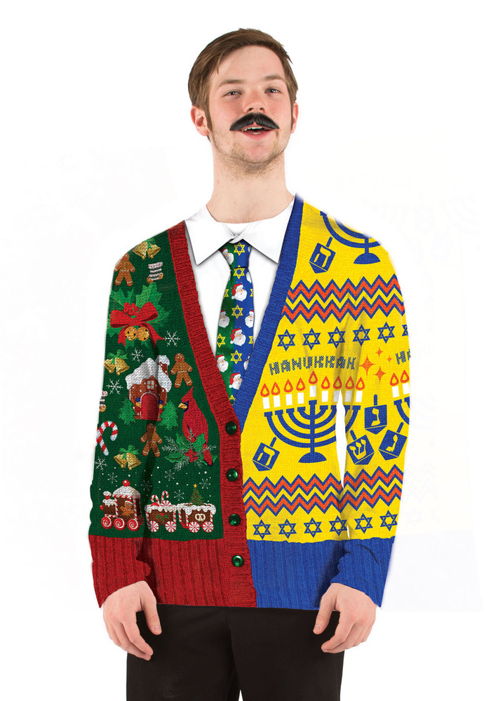 Half and Half Ugly Sweater - Faux Real