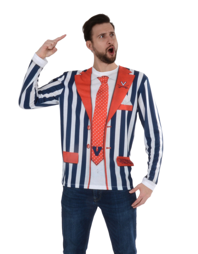 Virginia Cavaliers Striped Suit Tee
