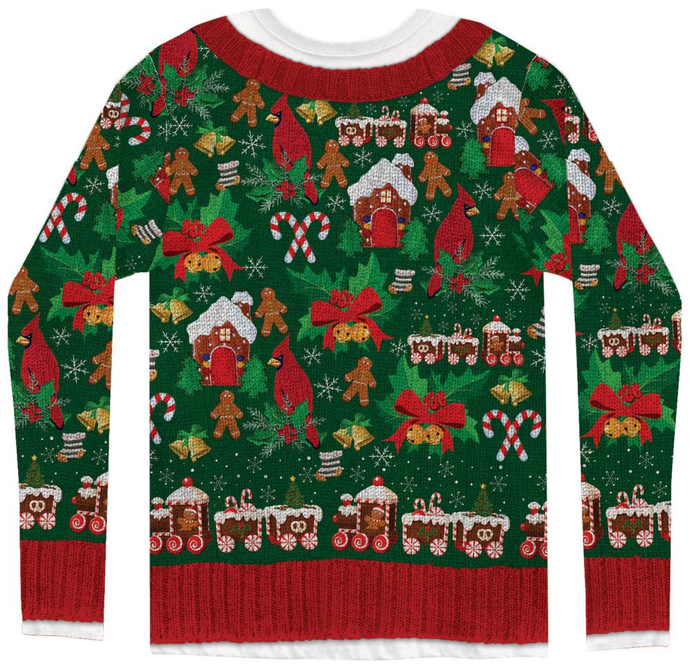 Ugly Christmas Cardigan - Back View